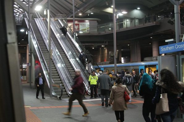 Failed escalators at Southern Cross platform 11 and 12