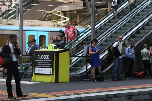 Escalator under planned maintenance at Southern Cross Station platform 11 and 12