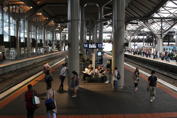 'Interim lighting solution' in place at Southern Cross Station platforms 13 and 14
