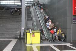 Escalator linking the Bourke Street Bridge to Spencer Street is still broken