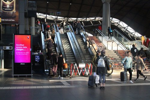 Failed escalator at the Collins Street end of Southern Cross Station