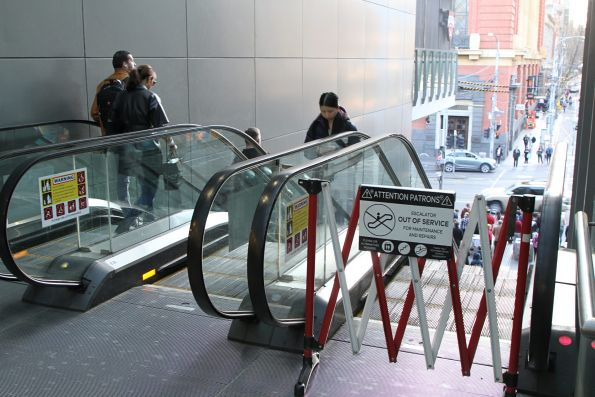 Failed escalator between the Spencer Street and the Bourke Street bridge