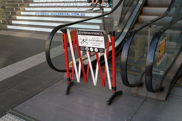 This escalator between Spencer Street and the Bourke Street bridge has failed yet again!