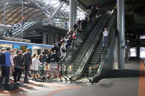 Failed escalator at Southern Cross platform 13 and 14