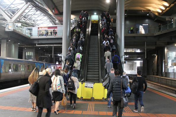 Escalator still broken at Southern Cross platform 13 and 14