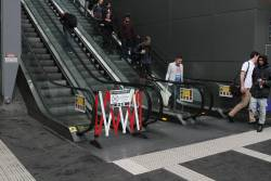 The escalator up to the Bourke Street bridge has failed yet again