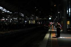 Platforms 13 through 15 still in the dark at Southern Cross Station