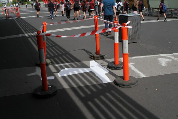 More cracks on the Bourke Street bridge have been patched over