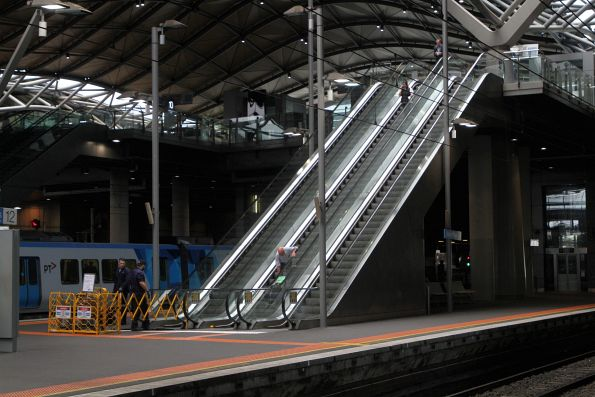 Repairing the escalator to Southern Cross platform 11 and 12