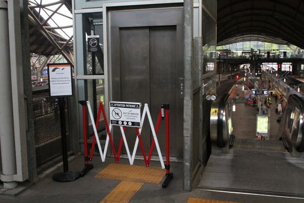 Lift at Southern Cross platform 9 and 10 closed for repairs