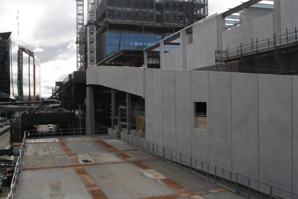 Vehicle access ramp from Collins Street to the 664 Collins Street development atop Southern Cross Station