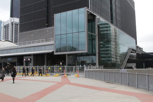 Completed entrance to the new 699 Bourke Street development atop Southern Cross Station