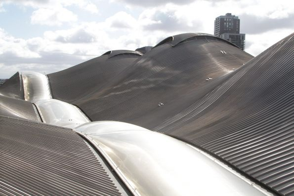 View of the Southern Cross Station roof from 664 Collins Street