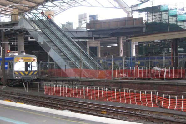 New escalators from platform 9 and 10 to Collins Street almost ready to use