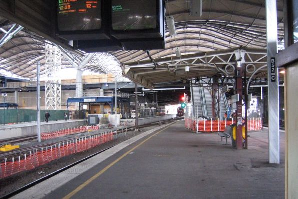 Sections of the original platform shelters still in place at platform 9 and 10