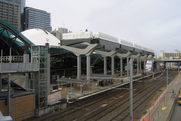 Work on the decking over platform 13/14