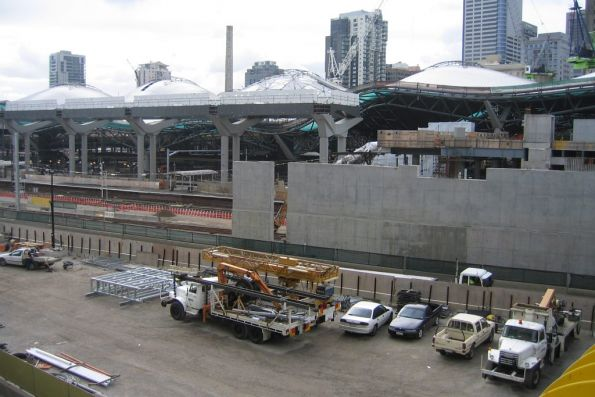 Work on the western end of the new Collins Street concourse