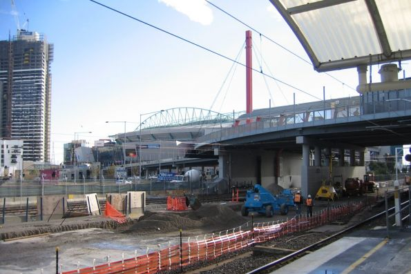 Foundation works underway for the concourse above future platforms 15 and 16