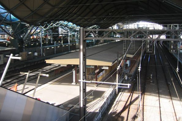 Platforms 9 and 10 still waiting a rebuild