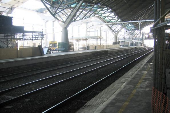 Platform 11 and 12 after the first stage of rebuilding, viewed from platform 10