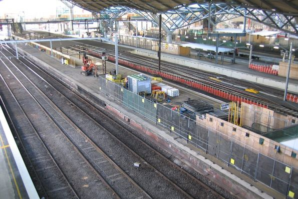 Platform 9/10 before demolition at Spencer Street