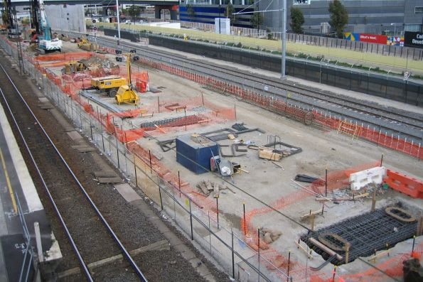 Foundation works underway for the deck above future platforms 15 and 16