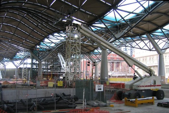 Main concourse underway at the corner of Spencer and Collins Street
