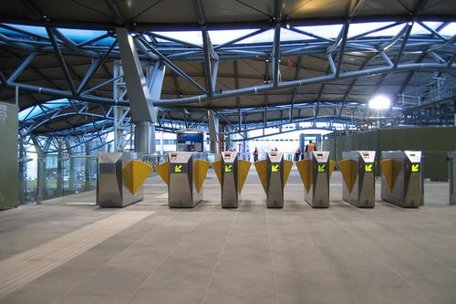 Metcard barriers on the Collins Street concourse
