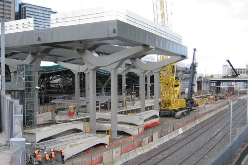 Starting work on the deck above future platform 15/16