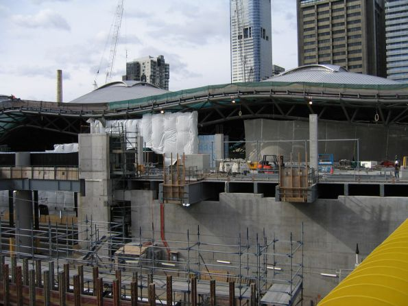 Work on the Collins Street concourse continues west