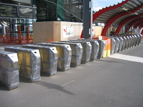 New Metcard barriers at the Bourke Street end