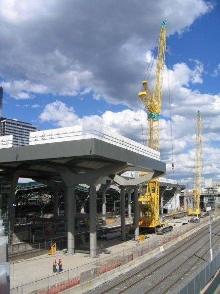 Work continues on the deck over future platform 15/16