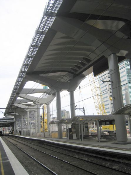 Underside of the deck over platforms 13-16