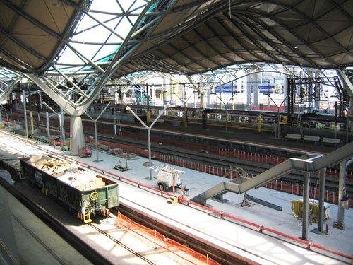 Platform 7/8 still under construction