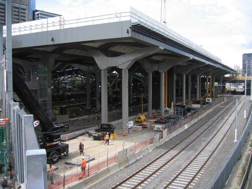 Work on the deck over platform 13-16