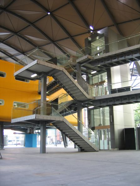 Stairs and elevator to the office pods - Wongm's Rail Gallery