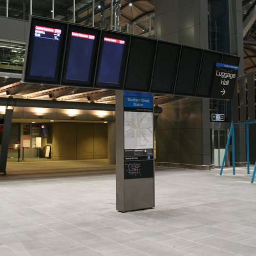 Last train of the night at Southern Cross