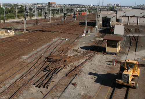 Trackwork to rearrange the entry to Southern Cross Station
