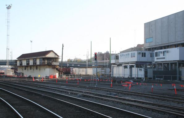 New and old signal boxes at Southern Cross