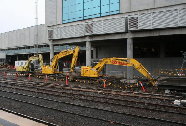 Not much work done on the extension of Southern Cross platform 1/2