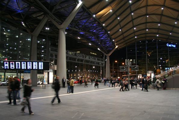Main entrance to Southern Cross Station