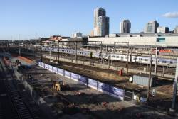 Work on the northern end of new platform 15/16