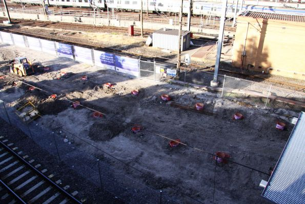 Piles for the northern end of new platform 15/16