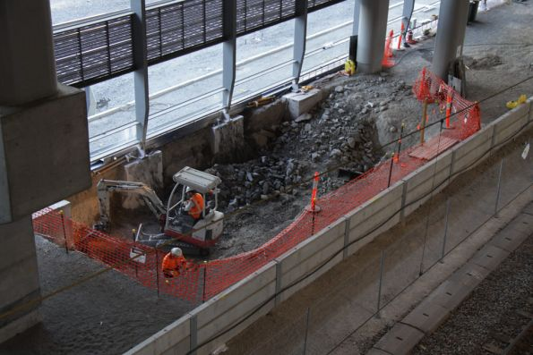 Digging out the base for the new escalators to platform 15/16