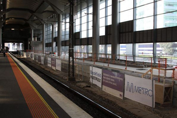 New platform 15/16 with the concrete slab poured, just the platform coping to go