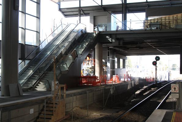 Escalators and stairs completed for the new platform 16/16