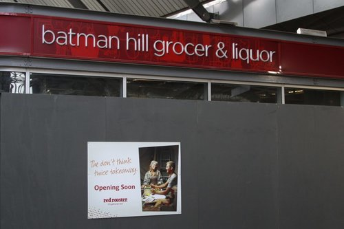 Abandoned supermarket 'Batman Hill Grocer & Liquor' at Southern Cross finally being redeveloped, into a Red Rooster