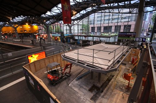 The 'Exciting New Retailer!' taking shape on the Collins Street concourse