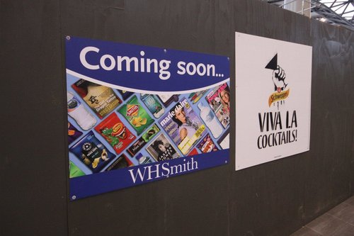 Coming soon: WHSmith, yet another newsagent / convenience store. 20 metres away is 'Relay', the red fronted store that sells the exact same crap