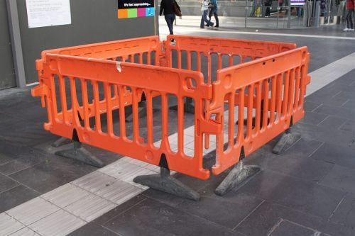 Another week, another batch of poor quality tactile paving needing to be reattached to the concourse